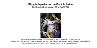 Allentown Family Foot Care - Bicycle Injuries to the Foot and Ankle