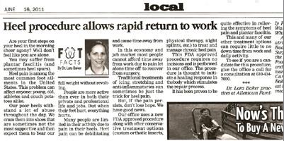 Hell Procedure allows rapid return to work